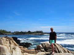In Kennebunkport, Maine infront of George W Bush's summer house.