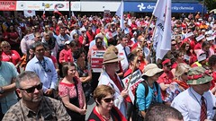 DSCF2292.jpg (Leo in Canberra) Tags: rally protest australia demonstration canberra act wearred countonme joinnow cpsu strongertogether garemaplace proudtobeunion 6november2014 rallytosafeguardyourrightspayandconditions