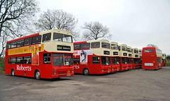 Roberts Metrobus line-up 06/11/14 (MCW1987) Tags: mk2 roberts coaches metrobus mcw 2868 b868dom