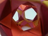 Rhombicosidodecahedron(inside) (hyunrang) Tags: origami hur rhombicosidodecahedron knotology tetrahedralsymmetry paperstirp