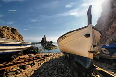 (369/16) Barcas en el Arrecife (Pablo Arias) Tags: pabloarias photoshop nxd cielo nubes texturas espaa mar mediterrneo agua barcas embarcadero cabodegata parquenatural almera comunidadandaluza
