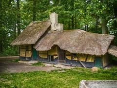 Cellar Hut (enneafive) Tags: cellar hut koersel bokrijk belgium belgie belgique green smoke hermit hermitage olympus omd em5 farmhouse tatchedroof