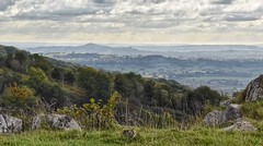 Distant Tor (Nige H (Thanks for 6.5m views)) Tags: nature landscape gorge cheddargorge tor glastonburytor sky cloud trees somerset england
