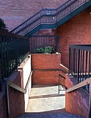 Lake Falls Village (karma (Karen)) Tags: baltimore maryland lakefallsvillage steps stairs fences railings shadows light bricks iphone