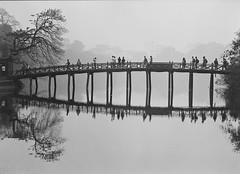 Ho Guom (Nam Vu Ha) Tags: ha noi march 2016 pentax 645n 645 smc a 80160mm f45 ilford xp2 noritsu hs1800 landscape film analog bridge lake reflections