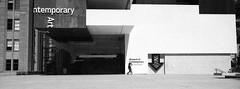 The Museum (Colin_Bates) Tags: museum contemporary art sydney the rock hasselblad xpan panorama film bw grain kodak tmax 3200iso