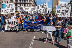 March for Europe (Gary Kinsman) Tags: sw1 fujix100t fujifilmx100t 2016 parliamentsquare westminster london candid streetphotography streetlife flash demonstration protest march marchforeurope eureferendum brexit the48 eu europeanunion remain politics crowd crowded plackard sign plackards signs