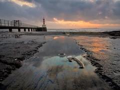 Blockhouse Reflections (Amble180) Tags: harbour olympus em5 northumberland wildaboutnorthumberland amble