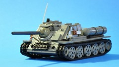 SU-85 - left front (dmaclego) Tags: lego ww2 wwii tank destroyer selfpropelled soviet panzer