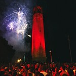 The Belltower in RED.