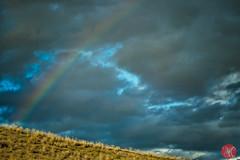 Chasing rainbows (Kasia Sokulska (KasiaBasic)) Tags: fujix canada bc rockies mountains summer landscape kamloops sky clouds rainbow