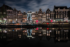 From Dusk till Dawn (McQuaide Photography) Tags: amsterdam noordholland northholland netherlands nederland holland dutch europe sony a7rii ilce7rm2 alpha mirrorless 1635mm sonyzeiss zeiss variotessar fullframe mcquaidephotography adobe photoshop lightroom tripod manfrotto light licht night nacht nightphotography longexposure stad city capitalcity urban lowlight architecture outdoor outside old oud gracht grachtenpand canalhouse house huis huizen traditional authentic water reflection centrum gebouw building waterfront waterside canal colour colours color boat boot wideangle groothoek wideanglelens singel redlight redlightdistrict singelgebied windows