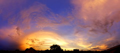 Cream swirl (peredman) Tags: sunset outdoor clouds colors swirly sky heaven panorama