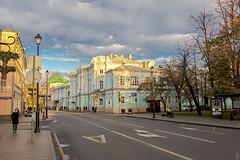 Pokrovka Street (Shark CR Photo) Tags: pokrovka moscow architecture house building street road clouds streetlights hdr pokrovskiyevorota sigma1835f18dchsm sigma1835f18 canoneos7dmk2