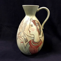 BRIC-A-BRAC:  Jug with man, woman, and 2 doves.