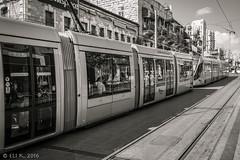 Light Railway, Yafo Road Jerusalem (kitchener.lord) Tags: israel jerusalem photowalk impressions 2016 fujinonxf1855 blackwhite rail