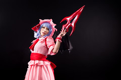 Remilias (bdrc) Tags: remilia scarlet touhou cosplay girl portrait cupcat studio indoor ximilu vampire gungnir spear wing props blackspace nikon nikkor 50mm f14d manual prime a6000 sony