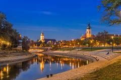 Gyr evening 1 (Burjn Lszl) Tags: river evening gyr hungary rba raab lights