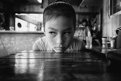 (C)ontemplating (Dtek1701) Tags: fuji fujinon xflens xmount xtranssensor xt1 xseries xshooter mirrorless apsc handheld naturallighting indoor blackandwhite bw monochrome project face freckles pov wid fujinonxf1024f4ois