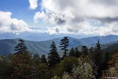 View from Clingman's Dome (isaac.borrego) Tags: uploadedviaflickrqcom mountains peaks clouds sky clingmansdome blueridgemountains appalachianmountains greatsmokymountains nationalpark northcarolina canonrebelt4i unitedstates america usa