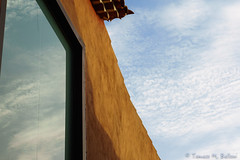 Uncertain lines (tomaso.belloni) Tags: europe lalaguna spain tenerife building city color exterior house nobody outdoor outdoors photography reflection sky urban windows