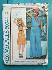(kittee) Tags: kittee vintagesewing vintagepattern mccalls mccalls5094 5094 size12 bust34 misses junior dress jumpsuit frontzipper shortsleeves 1976 1970s lenttoerika