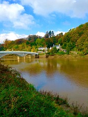 Chepstow, looking towards England and Gloucestershire (How Much Jones) Tags: chepstow wales autumn views river wye england gloucestershire