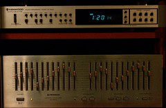 Vintage Audio, Kenwood  audio program timer AT 500 , and Pioneer SQ 9800 graphic equalizer, both stills works !  (davidrove65) Tags: ef28135mmf3556isusm canon eosrebelt4i