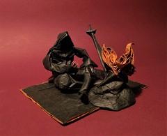 The Chosen Undead (edg82) Tags: origami black bonfire fire pyromancer darksouls videogames paper fold