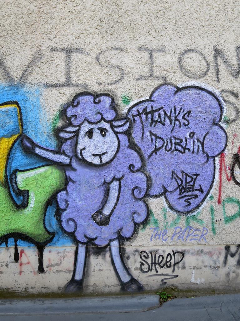 Graffiti wall dublin - Graffiti Sheep Vapspwi Tags Ireland Dublin U2 Graffiti Wall Sheep