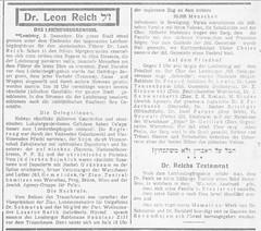 Ostjüdische Zeitung №1296 (06.XII.1929.S.2.) (Drohobycz) Tags: дрогобич leon reich drohobycz ostjüdische zeitung леон райх некролог сіонізм галичина львів lemberg