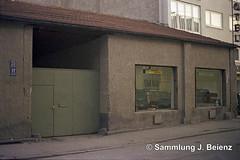 1970 Behelfsladen  Schillerstrasse 47 (Pacific11) Tags: mnchen munich 1970 1971 vintage alt selten bilder bayern schillerstrasse 49 behelfsbauten hotel kraft