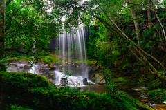 Tum So-nor Waterfall. (Look Aod27) Tags: beautyinnature colorimage day falling flowingwater horizontal nopeople outdoors photography rockobject rockformation scenics southeastasia asia forest motion nature plant thailand tree water waterfall