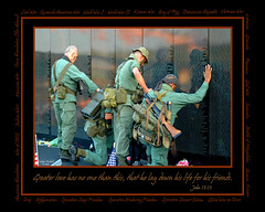 Veterans at Vietnam Wall (Carolyn Marshall Photography) Tags: veterans vietnam patriotism patriotic war memorial monument people men military wall movingwall vietnamwall usaf airforce army navy marines coastguard american soldier monuments touchingnamesonwall patriot remember remembrance reflection detail honor honoring reverence soldiers unitedstates usa vets bible scripture john1513 weapons symbol carolynmarshall carolynmarshallphotography marshall tampaphotographers floridaphotographers