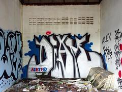 Graffiti on Koh Samui 2015 (kami68k -all over-) Tags: kohsamui thailand graffiti illegal bombing chrome deam asktf