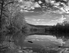 Allegheny River Panorama _ bw (Joe Josephs: 2,861,655 views - thank you) Tags: westvirginia landscape landscapephotography outdoorphotography waterfront waterways america fineartphotography americana water hiking fineartprints waterreflections alleghenyriver river rivers travel travelphotography landscapes blackandwhitephotography blackandwhite