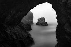 Pacific Lair (StefanB) Tags: 1235mm 2016 bw california coast em5 geotag hwy1 longexposure monochrome outdoor pacific sea seascape fin lair ocean cove
