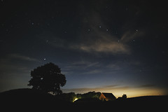 Sky mania (Budoka Photography) Tags: barn nightphoto night nightheaven nightsky tree stars starheaven starry clouds silhouette longexposure samyang14mmf28 manual outdoor le sonyalphailce7rm2 landscape nature