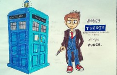 Doctor Who: 10th e sua esposa (Pedro Au) Tags: instagramapp square squareformat iphoneography uploaded:by=instagram sériesoldworkdoctorwhofanartsketchtvgeek séries oldwork doctorwho fanart sketh tv geek nerd