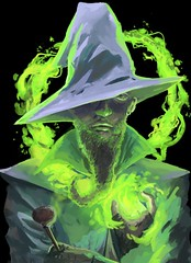 Wizard with the dank beard (explored 11/28/16) (Stephen Boe) Tags: color magic wizard fantasy drawing painting digitaldrawing digitalpainting digitalart art