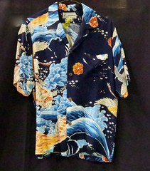 MENSWEAR:  Large selection of vintage Hawaiian shirts.