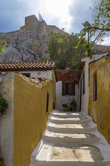 Anafiotika (guillenperez) Tags: grecia greece athens atenas plaka district barrio acropolis view vista anafiotika anafi escaleras stairs