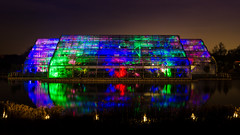 Full Glow (Stephen Reed) Tags: rhswisley glasshouse lake water surrey england lightroomcc photoshopcc nikon christmas d7000