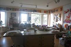 My Wonderland (opal c) Tags: studio morning morninglight work worktable projects designwall