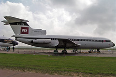 G-AVFB Hawker Siddeley Trident 2E British European Airways Duxford EGSU 01-04-04 (PlanecrazyUK) Tags: egsu imperialwarmuseumduxford duxford imperialwarmuseum gavfb hawkersiddeleytrident2e britisheuropeanairways 010404