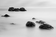 Pure (blondmao) Tags: sunset bnw kohlanta indianocean clouds longexposure beach 10stopper bw andamansea ocean rocks island sky sea klongninbeach blackandwhite krabi thailand