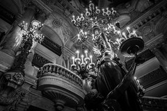 A grand entrance (McQuaide Photography) Tags: paris france french républiquefrançaise iledefrance europe sony a7rii ilce7rm2 alpha mirrorless 1635mm sonyzeiss zeiss variotessar fullframe mcquaidephotography adobe photoshop lightroom handheld light availablelight city capitalcity urban lowlight indoor inside interior architecture building wideangle wideanglelens ornate detailed details palaisgarnier operahouse parisopera charlesgarnier placedelopéra landmark opulent luxury luxurious neobaroque beauxarts grandstaircase balustrade ceiling isidorepils history historic culture arts 19thcentury chandelier lighting blackandwhite blackwhite bw mono monochrome