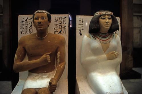 """Ägypten 1999 (612) Kairo: Rahotep- und Nofret-Sitzstatuen, Ägyptisches Museum • <a style=""""font-size:0.8em;"""" href=""""http://www.flickr.com/photos/69570948@N04/31976108502/"""" target=""""_blank"""">View on Flickr</a>"""