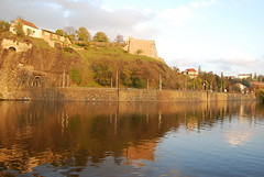Late afternoon on the Vlatava (Halliwell_Michael ## Thanks you for your visits #) Tags: prague2016 autumn 2016 nikond40x czechrepublic prague rivervltava rivercruise boattrip boat reflection reflections monastery landscapes water reflectionslovers