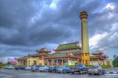Masjid Beijing, Kelantan (abiommacro2) Tags: building clouds landscape nikon mosque kelantan abiom masjidbeijing